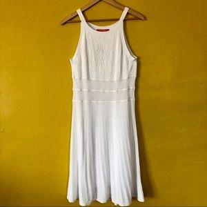 NWT CATHERINE MALANDRINO White Knit Serena Dress S
